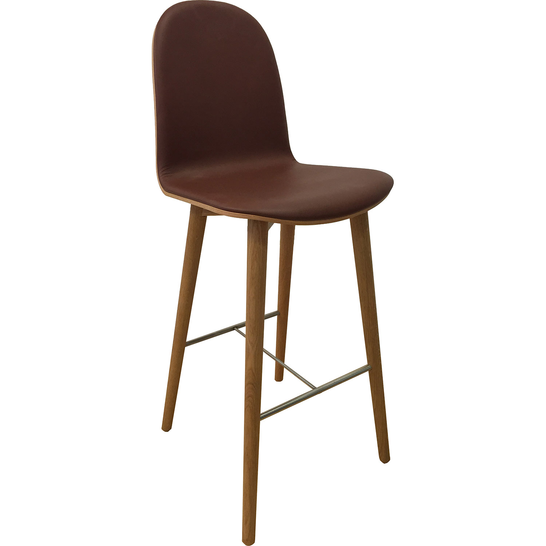 nam nam wood stool high back nam nam products icons of denmark. Black Bedroom Furniture Sets. Home Design Ideas