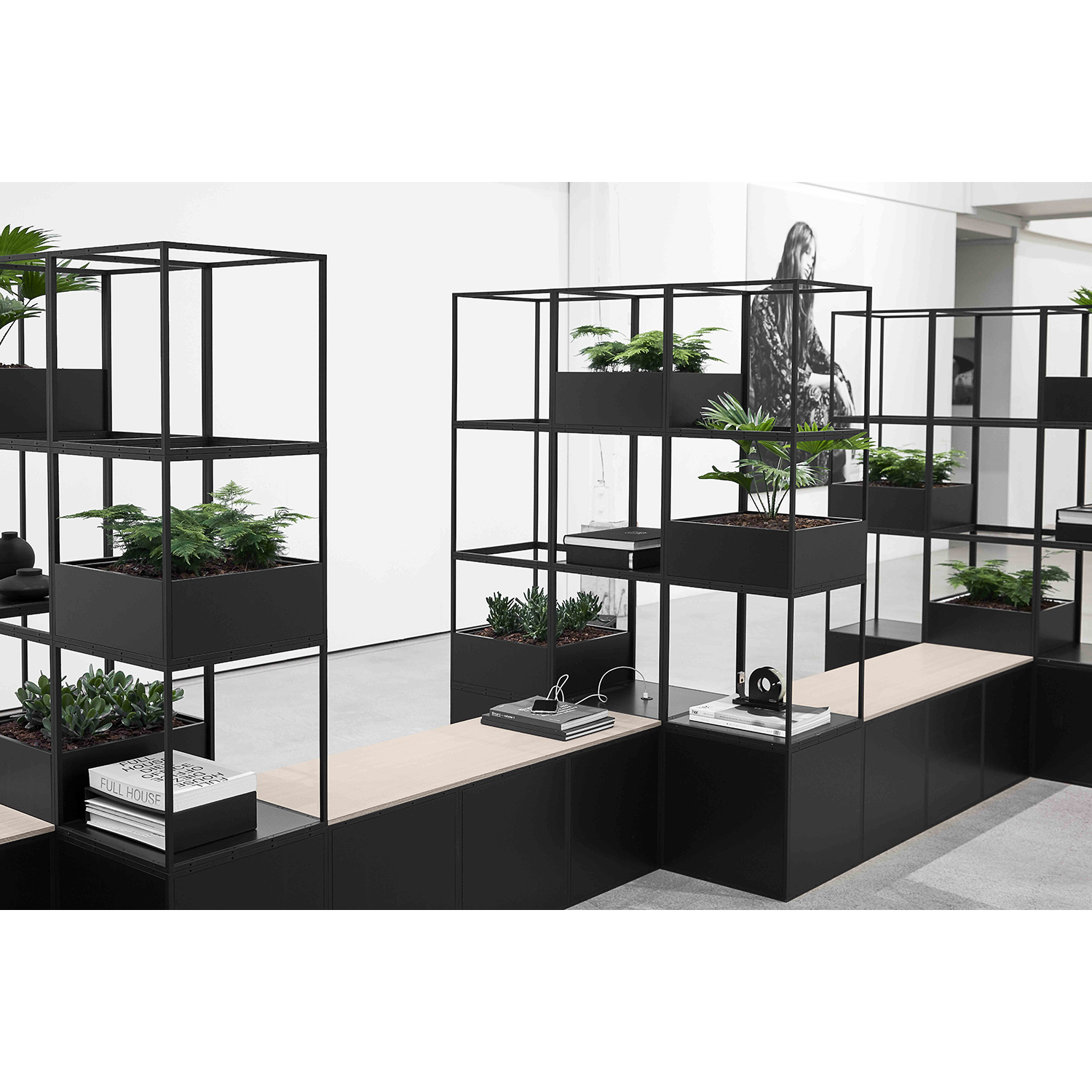 Biophyilic Grid Planters Products Icons Of Denmark